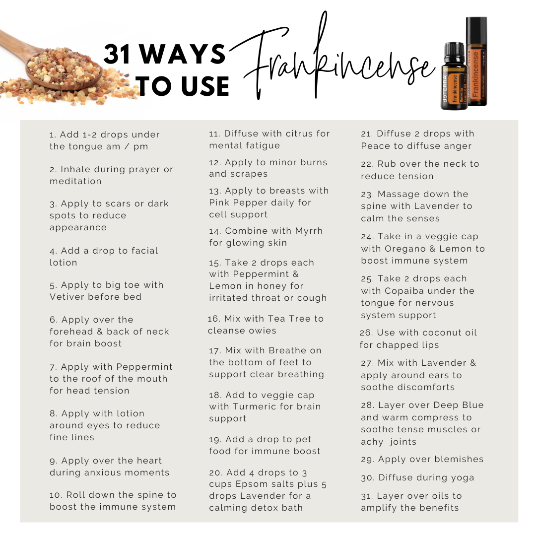 31 Ways To Use Frankincense Essential Oil Self Care Mind Body Soul
